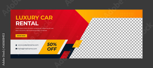 Modern social media  banner template for car rental Fototapete