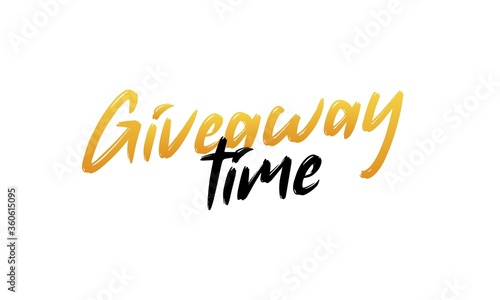 Giveaway time text on white background. Vector illustration Canvas-taulu