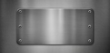 Polished Metal Plate With Rive...