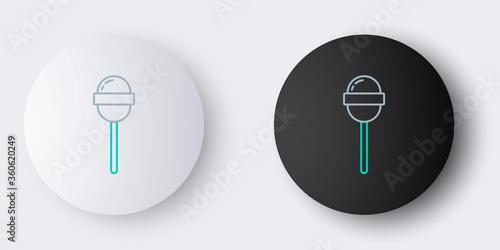Carta da parati Line Lollipop icon isolated on grey background
