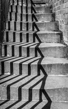 Shadow Pattern On Steps.