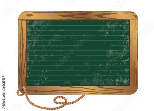 Photo leere grüne Schiefertafel für eigene Beschriftung