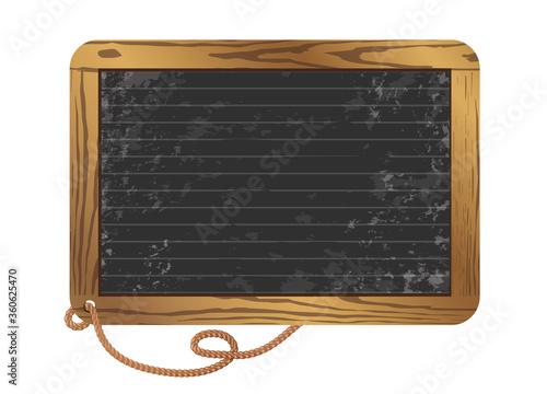 Photo leere schwarze Schiefertafel zum beschriften