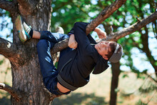 Teenage Boy Playing Outdoor, C...
