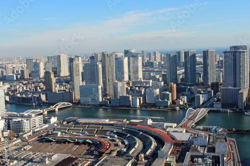 Fototapety, obrazy: 汐留から東京湾を一望