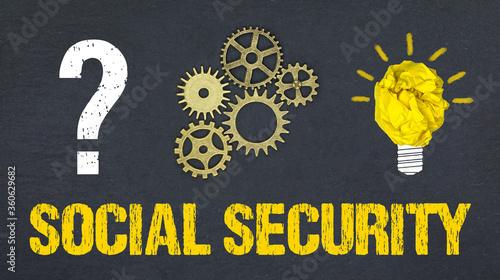 Fototapeta Social Security obraz