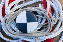 Sailing Ropes Around Capstan O...