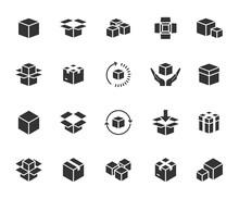 Vector Set Of Box Flat Icons. ...