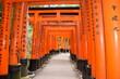 Leinwanddruck Bild - Temple Fushimi Inari Taisha