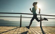Sporty Fitness Female Runner R...