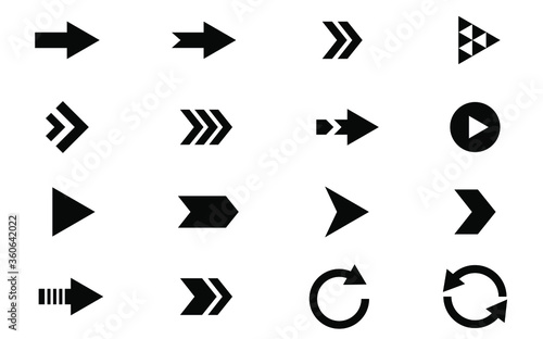 Fotografia Collection of vector flat arrow icon set for business infographics and computer