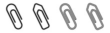 Paper Clip Icons Set On White Background. Paperclips In Flat Style. Office Paper Clip Sign. Vector