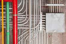 Wiring Pipe System Under Concr...