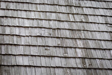 Old Wooden Roof. Old Wood Text...