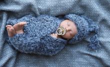 Cute Newborn Baby Sleeping On ...