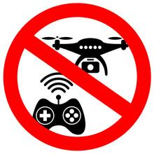 No Drone Zone Vector Sign