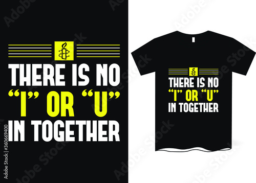 There is no I or U in Together- Amnesty International Day, Amnesty's logo, Amnes Canvas Print