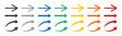 Arrows colorful set .Arrows. Arrow icon. Colorful arrows . Vector illustration