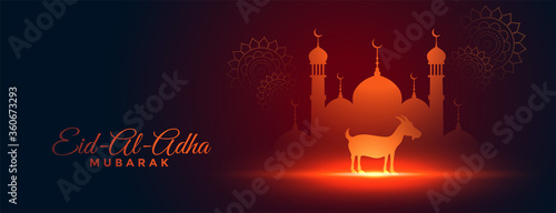Obraz na płótnie beautiful bakra eid al adha festival banner design