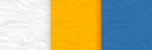 Abstract Wavy Shape Pattern Blank Background Set