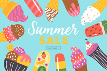 Summer Sale Banner Design With...