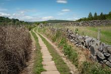 Footpath On The Derwent Valley Heritage Trail Near Froggatt, Hope Valley, Peak District, UK