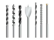 Drill Bits Metallic Realistic ...