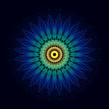 Ornament Round Mandala. Geomet...