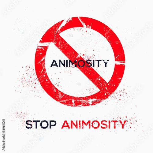 Warning sign (animosity), vector illustration. Canvas Print