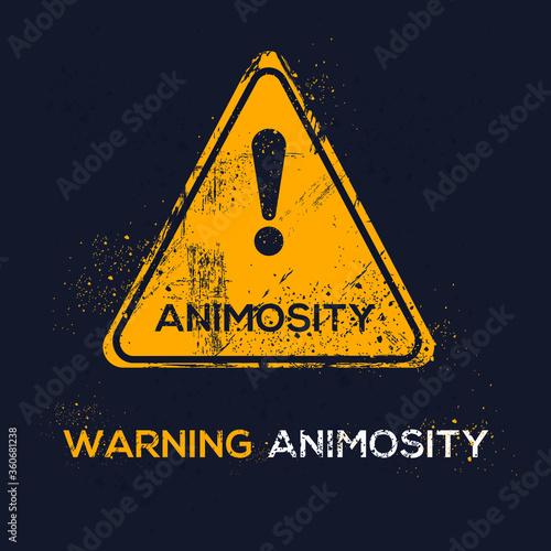 Warning sign (animosity), vector illustration. Wallpaper Mural