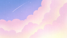 雲の隙間から見える流...