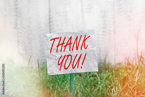 Conceptual hand writing showing Thank You Canvas Print
