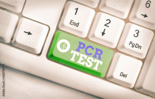 Photo Handwriting text Pcr Test