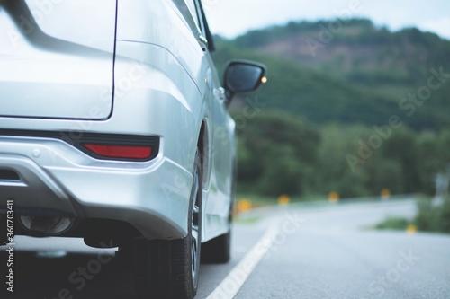 Fototapeta car on the road obraz na płótnie
