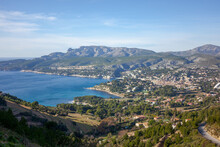 A View Of Cassis From Above.