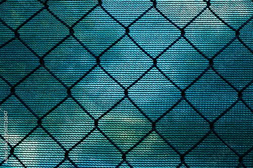 Machen Draht Zaun und Sichtschutz Canvas Print