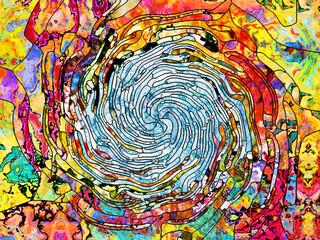 Naklejka Witraże świeckie Conceptual Color Division