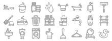 Bathroom Line Icons. Linear Se...