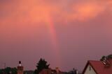 Fototapeta Tęcza - krajobraz  nieba  po  burzy  piękna  tęcza