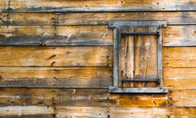 Exterior Wooden Wall Of A Vint...