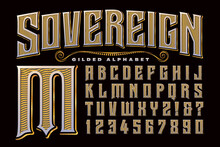 An Ornate, Regal, Gilded Alphabet That Exudes Elegance And Drama