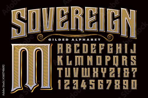 An Ornate, Regal, Gilded Alphabet that Exudes Elegance and Drama фототапет
