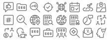 Web Apps Seo Line Icons. Linea...