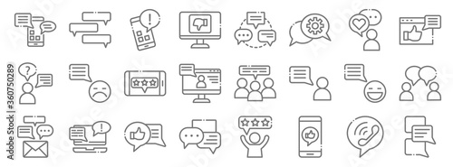 Tablou Canvas chatting and communication line icons