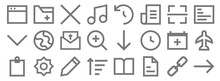 User Interface Line Icons. Lin...