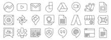 Google Suite Line Icons. Linea...