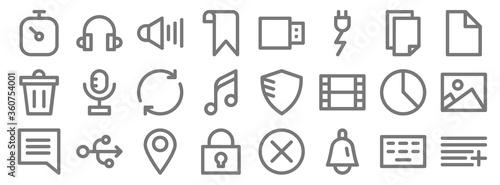 Fotografía user interface line icons