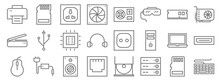 Hardware Line Icons. Linear Se...