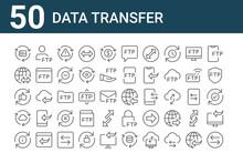 Set Of 50 Data Transfer Icons....