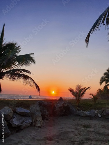 Troncones Beach Sunset Canvas Print